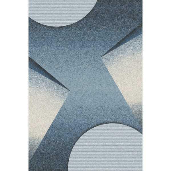 Covor lana Karioka albastru - 1