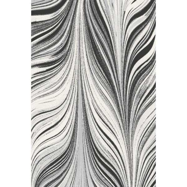 Covor lana Linies graphite - 1