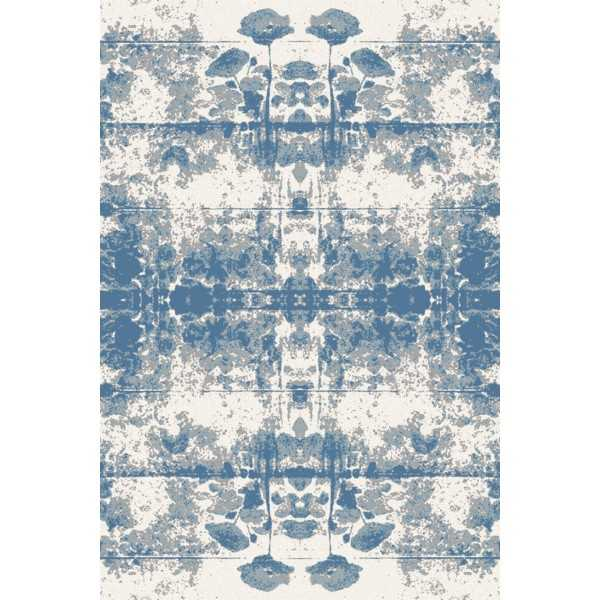 Covor lana Popys albastru - 1